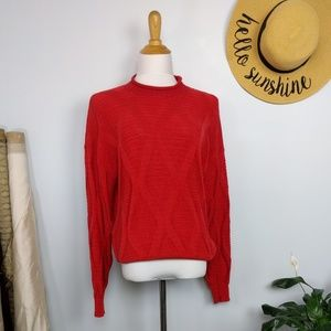Vintage Sweaters - Vintage Oversized Cozy Cotton Fall Sweater